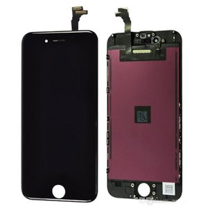 iPhone 6 LCD Blanco y negro Pantalla táctil de cristal iphone 5 4 lcd Asamblea de reemplazo para iPhone 5 5C 5S DHL gratuito
