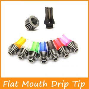 Colorful 510 Enfiar Drip Tips mais novo Plano Boca Drip Tips Com dissipador de calor clear colorido plana Bocal frete grátis