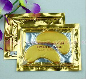 venda por atacado-quente! 10 pares de cristal Collagen Eye Pads Ouro Olho da potência de colágeno máscara de maquiagem acessórios
