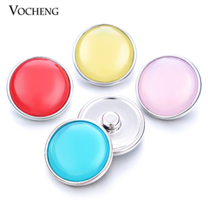 Vocheng Noosa 7 Colors Resin Button 18mm Interchangeable Snap Jewelry Vn-971