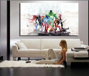 The Avengers Modern Art Pitture murali su tela Cuadros Decorativos Stampe su tela Dipinti Art For Living Room A / 1338