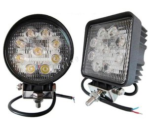 "4 ""4inch 27W Spot Flood light Square / Round 27W Offroad LED Work Light Truck Boat Camping LED Worklight Off Road Round Driving Work"