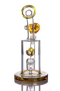 Bong di vetro colorato bong 14 mm joint design unico dab rigs acqua riciclatore di petrolio tubo percolator inebriante colore casuale
