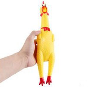 Formato di alta qualità M 31CM Pets Supplies Decomprimere in gomma Toy Pet Toys Creativo Shrilling Chicken Dog Toys Animali domestici Spedizione gratuita