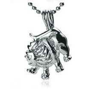 Lion Shape Pearl / Gem / Crystal Bead Cage Medallones colgantes, 18kgp signos del zodiaco - Leo style DIY Lucky Charms joyería de moda