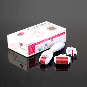 3 dans 1 rouleau de rouleau micro d'aiguille de rouleau de Derma de kit 180 600 1200 peau DermaRoller d'aiguilles pour le corps et le visage