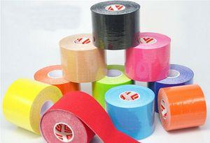 Apoio de ferimento New Health 5 cm x 5m NOVO Cinesiologia Kinesio rolo de algodão elástica adesiva Sports musculares Tape Bandage Physio Strain