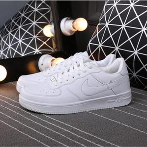 Hot venda Tamanho 36-44 2018 versão atualizada New todo branco Sapatos homens e mulheres elegantes sapatos casuais moda sapatos de skate SIZE36-44