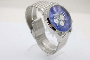 Edición limitada Transocean Chronograph B01 Unitime worldtimer Quartz Chronograph Reloj de pulsera Phantom Blue Face Acero inoxidable Hombre Watc