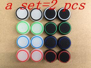 2 unids Nuevo 3D Silicona tapa colorida antideslizante Thumbsticks Joystick Caps Cover para PS3 / PS4 / XBOX ONE / XBOX 360 controladores inalámbricos