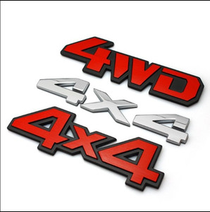 알루미늄 합금 자동차 금속 크롬 3D 스티커 4X4 4wd v6 배기 엠 블 럼 배지 트럭 자동차 자동차 자동차 스티커 데 칼