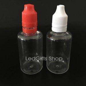 Colorido 50ml E líquidos botella vacía botellas de plástico PET gotero con aguja fina larga de Consejos de sabotaje sello evidente y Tapas a prueba de niños