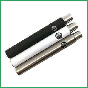 Batería de precalentamiento Botón de precalentamiento Voltaje variable ajustable BUD 350mAh Pluma de vapor 510 hilo para aceite de CO2