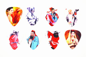 Lots of Alice 100pcs Folk Characters Guitar Picks Chinese Culture Printed Both Sides Plectrums Free Shipping