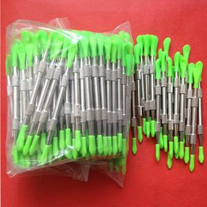 50 pcs Dabbers De Cera dabbing ferramenta com dicas de silicone 106mm dabber ferramenta de limpeza da tubulação de aço inoxidável ferramenta de cera de v escova de cera