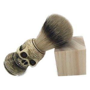2017 Новый Череп Глава Badger волос бороды кисти для макияжа Человек бритья кисти