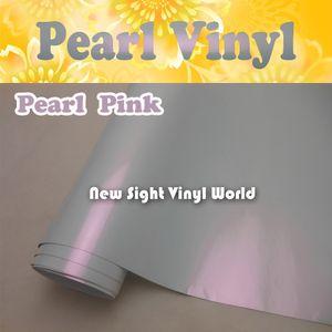 Caméléon en vinyle brillant brillant, caméléon, perle rose brillante, enveloppement de voiture, blanc, sans air, enveloppement de véhicule, taille: 1.52 * 20 M / Roll
