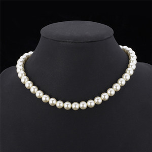 Sintetico di alta qualità collana di perle per le donne 2015 Nuovo Trendy ridimensionabile lusso collana in rilievo bianco / nero