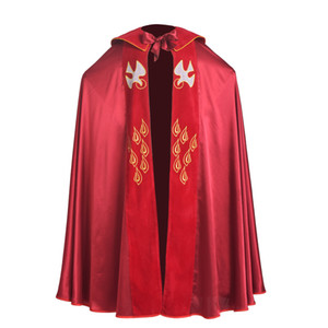 High Quality Vintage Catholic Church Red Vestments Cope with Stole Birds IHS Embroidered Robe for Men