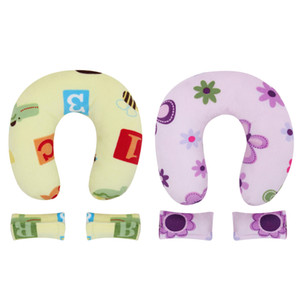 New Promotion 2 color Baby Neck Protection Pillow U Shape Headrest safe for Kids Baby Sleep Pillow Neck Protector