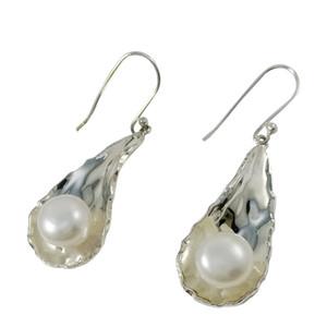 Pendientes de araña de perlas elegantes para E1234 Pendientes colgantes de plata No ajustables 8.6 g Aniversario Vintage Pendientes en línea