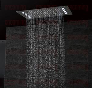 Роскошная ванная комната LED потолочные насадки для душа аксессуары SUS304 700x380 мм функции дождь водопад туман тумана душ DF5422