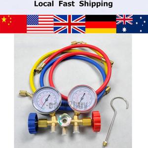 Atacado-Refrigeração, Ar Condicionado R22 R12 R502 A / C AC Diagnóstico Manifold Set Medidor