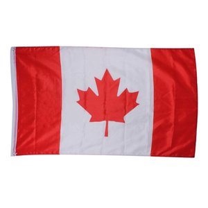 Commercio all'ingrosso 10PC / lotto x Large 90x150cm 5 X 3FT - Canada flag order $ 18no track