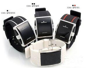 LED Luxus Intercrew Uhr für Frauen Männer IC Silikon Sportuhren 2015 Heißer Verkauf Square Digital Elektronische LED