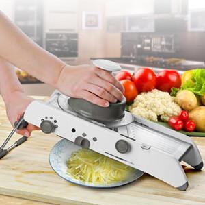 가변 수동 야채 커터 Mandol Slicer 감자 커터 당근 Graater Julienne 과일 야채 도구 주방 악세사리