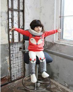 Mode Baby Outfits Kinderkleidung Kinderkleidung 2015 Herbst Winter Rot Hemd Jungen Mädchen Skinny Hose Kinder Set Kinderanzug Outfits B3959