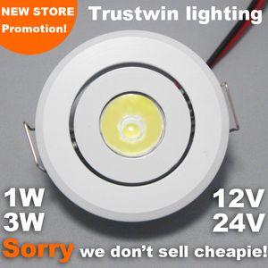 Weiße Mini Indoor Outdoor Decke Spot Einbau COB dünne Treppe Kabinett Licht 1W 3W 24V 12V Mini-LED-Licht Downlight