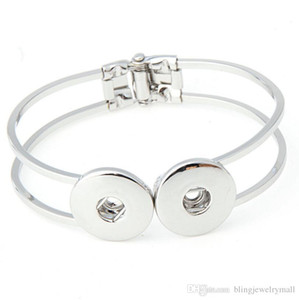 SZ01 vendita calda Snap Bangles argento / oro placcato alta qualità fai da te gioielli snap doppio bracciale bracciale