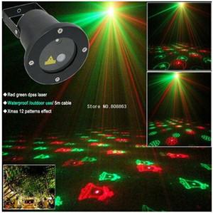 Promotion! Étanche Extérieure Laser Firefly Scène Lumières Paysage Rouge Vert Projecteur Jardin De Noël Ciel Star Lampes À Gazon Décorations