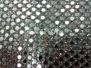 110X45 cm / levha temizle rhinestone gümüş alüminyum örgü ile Kristal Rhinestone Düzeltme mesh için Motif rhinestones trim