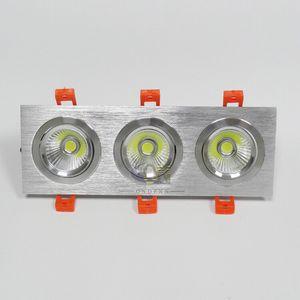FRETE GRÁTIS Pode Ser Escurecido 2x10 W / 3x10 W Duplo Quadrado LED Downlights COB chip 3 anos de garantia Branco Quente / Frio Branco iluminação interior