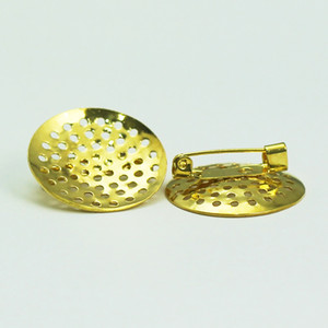 Beadsnice gold plated brooch pins wholesale size 25mm fashion channel brooch gift for women ID 11249