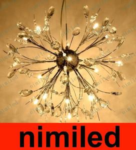 nimi565 Lampadario di cristallo nordico europeo di lusso Lampada a LED Personalità creativa Soggiorno Camera da letto Luce ristorante Penant Lighting