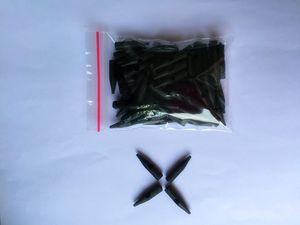 100 adet / paket 1RL Tek Kullanımlık Siyah Dövme Kalıcı makyaj Plastik iğne caps / BIOTOUCH dövme makinesi için İpuçları