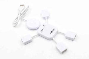 Mini Hub منافذ USB 2.0 عالي السرعة 4 منافذ USB 2.0 Hub USB وصلة توسعة humanoid laptop 100pcs DHL