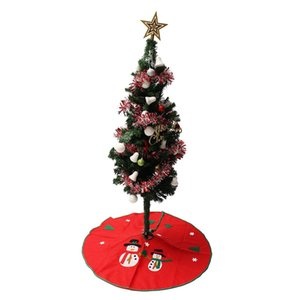Venta al por mayor de la falda del árbol de navidad 90cm Snowman Stands Adornos Xmas Party Decoration Merry Christmas Happy New Year