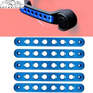 Garniture de poignée de porte bleue Garniture de poignée de poignée en aluminium avant arrière pour Jeep Wrangler JK Accessoires illimités 2 portes 4 D