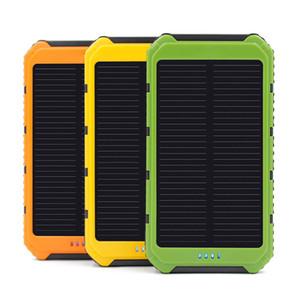 10000mAh Solar Power Banks 2A Ausgang Handy tragbares Ladegerät Solar-Powerbank Freies Verschiffen