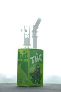 Mini Cam Dab Rig Küçük Bong Sıvı Suyu Şişesi Su Boru 7.5 Inç ve 14mm Ortak