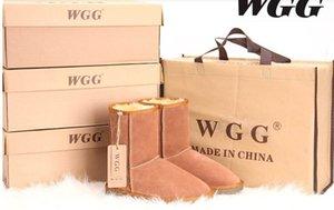 Chegada nova Alta Qualidade Clássico WGG Marca Mulheres populares Botas de Couro Genuíno da Austrália Botas de Neve das Mulheres da Moda US5-US13 Frete Grátis