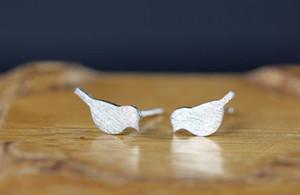 10Pair - S016 골드 실버 작은 선명한 사랑 새 스터드 귀걸이 귀여운 크레인 스터드 귀걸이 작은 아기 버드 귀걸이 스터드 동물의 보석