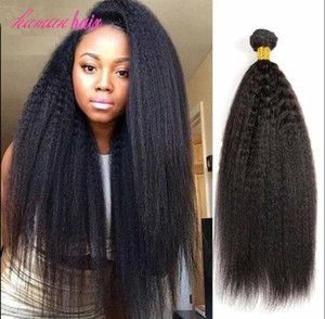 New Style Briazilian Menschen Jungfrau Remy verworrene gerade Haar-einschlag Baby-weiche Haar-Verlängerungen natürliche schwarze Farbe 100g Bundles