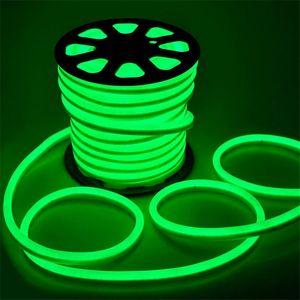 100m / lot 80pcs led / M LED 네온 플렉스 붉은 색 소프트 네온 등 / 110V 220V 방수 유연한 led 스트립 로프 빛