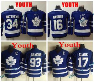 شباب تورونتو مابل ليفز 34 أوستون ماثيوس 16 ميتشل مارنر جيرسي الاطفال خمر 17 ويندل كلارك 93 دوغ جيلمور خمر الهوكي جيرسي