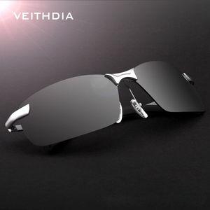 VEITHDIA 2020 neue Marken-3043 polarisierte Sonnenbrille Männer Aluminium Rahmen Sunglass Driving Gläser Goggles Brillen und Zubehör